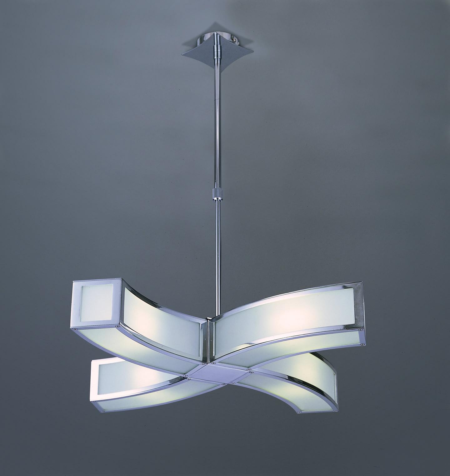 Duna Pendant Lamp Chrome 4L