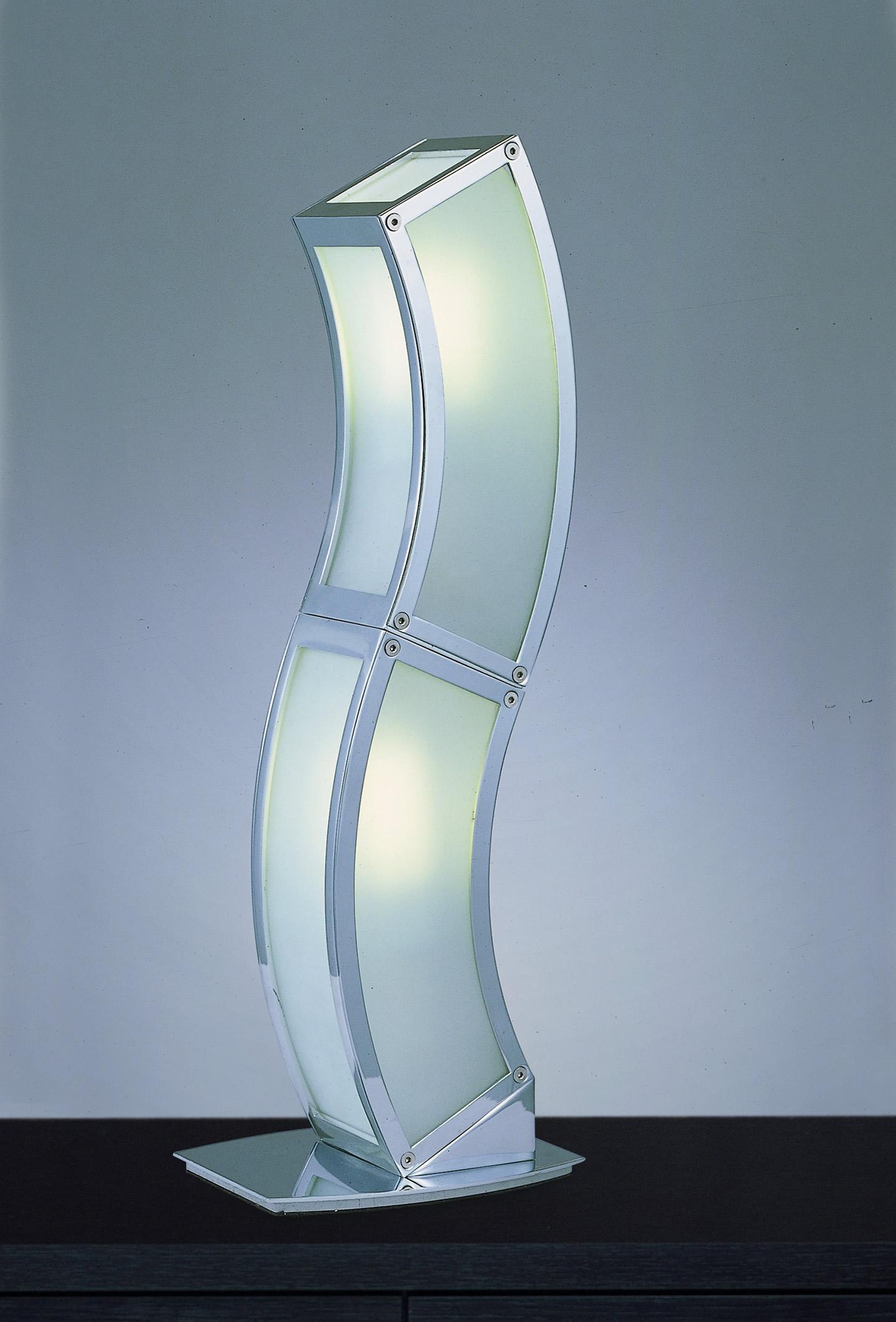 Duna Table Lamp Chrome 2L