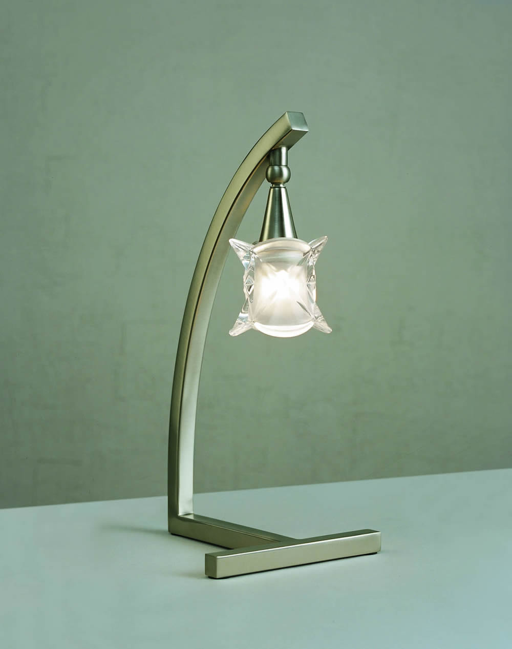Rosa del Desierto Table Lamp Nickel Satin 1L