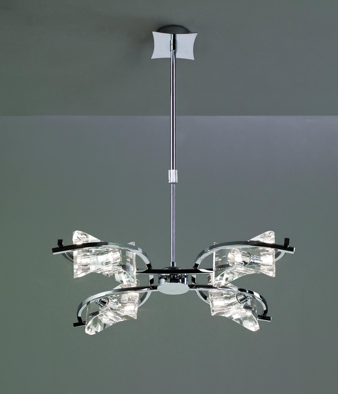 Krom Lámpara Colgante Cromo 4L
