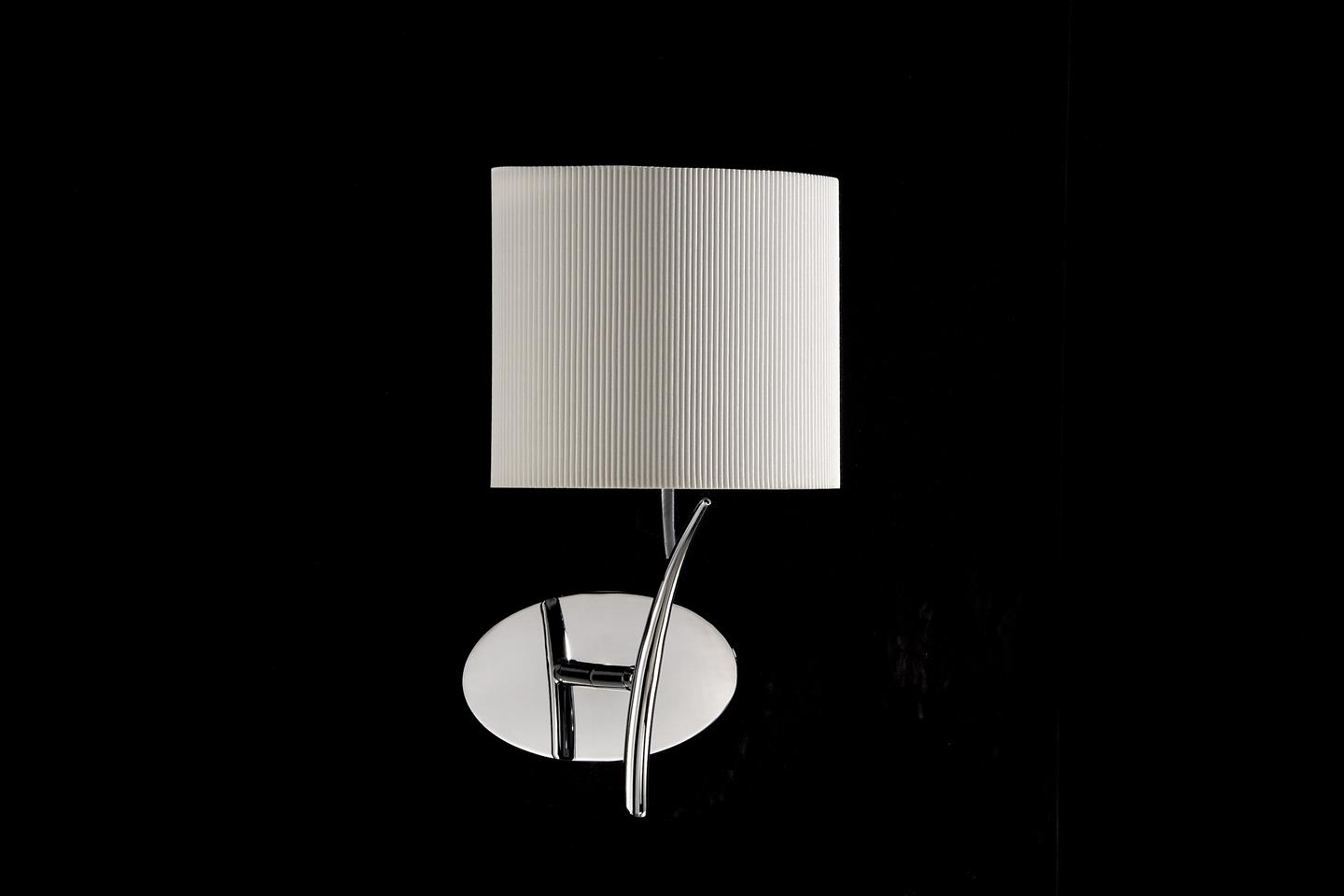 Eve Wall Lamp Chrome/Cream 1L