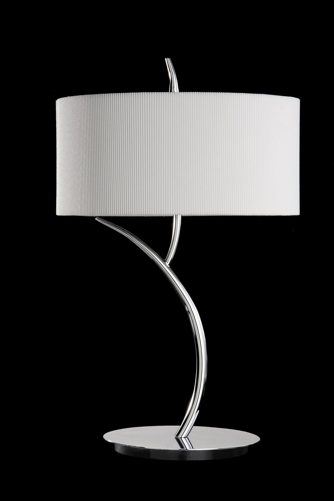 Eve Table Lamp Chrome/Cream 2L round
