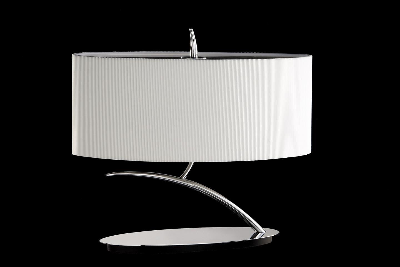 Eve Lampe de table Chrome/Crème 2L ovaleada