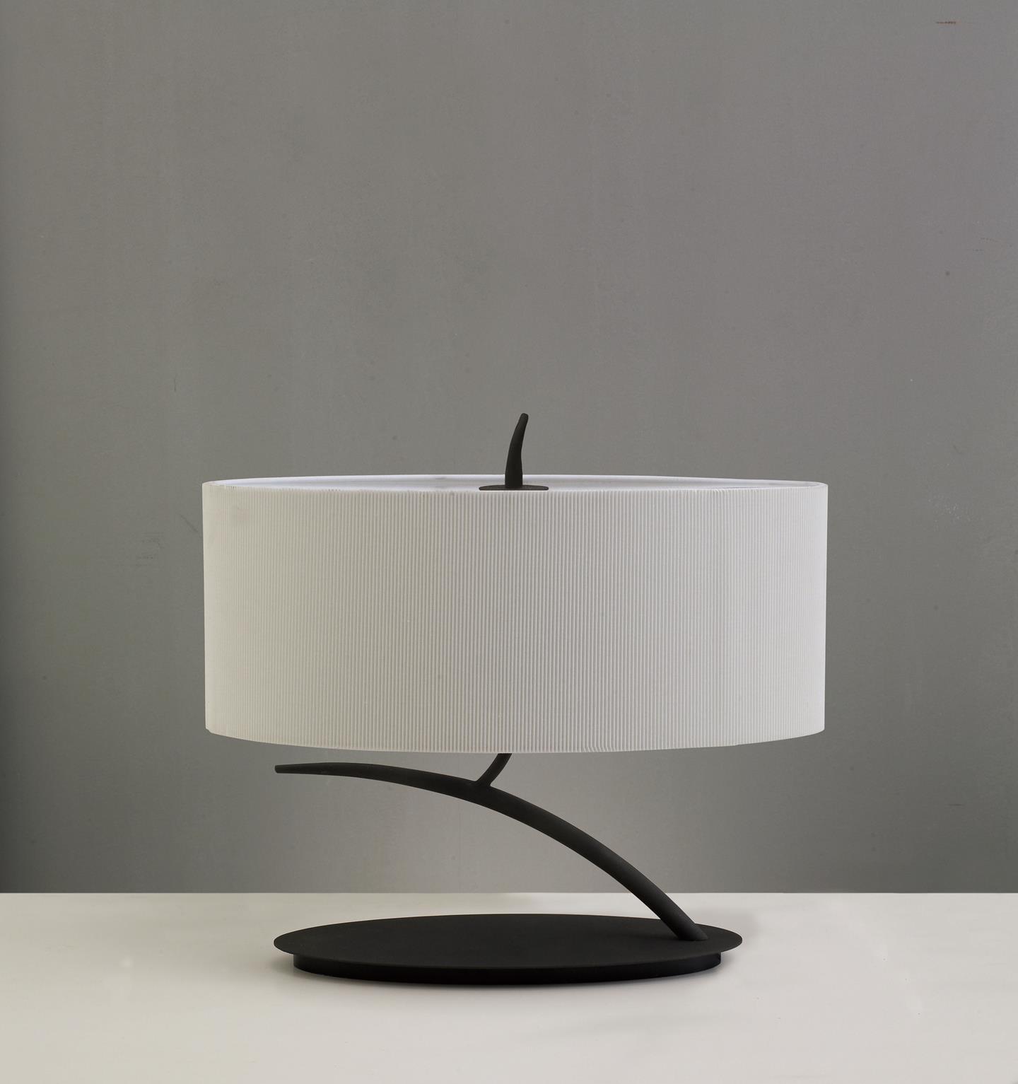 Eve Lampe de table Forja/Crème 2L ovaleada