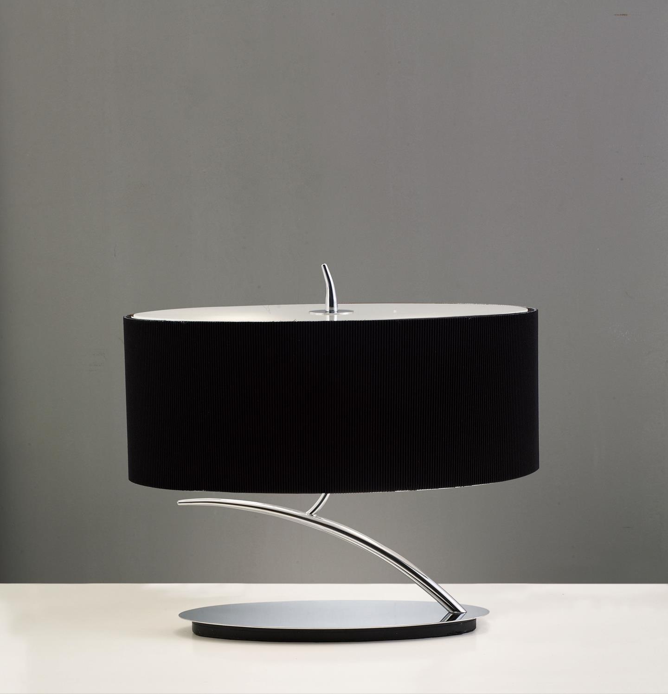 Eve Lampe de table Chrome/Noir 2L ovaleada