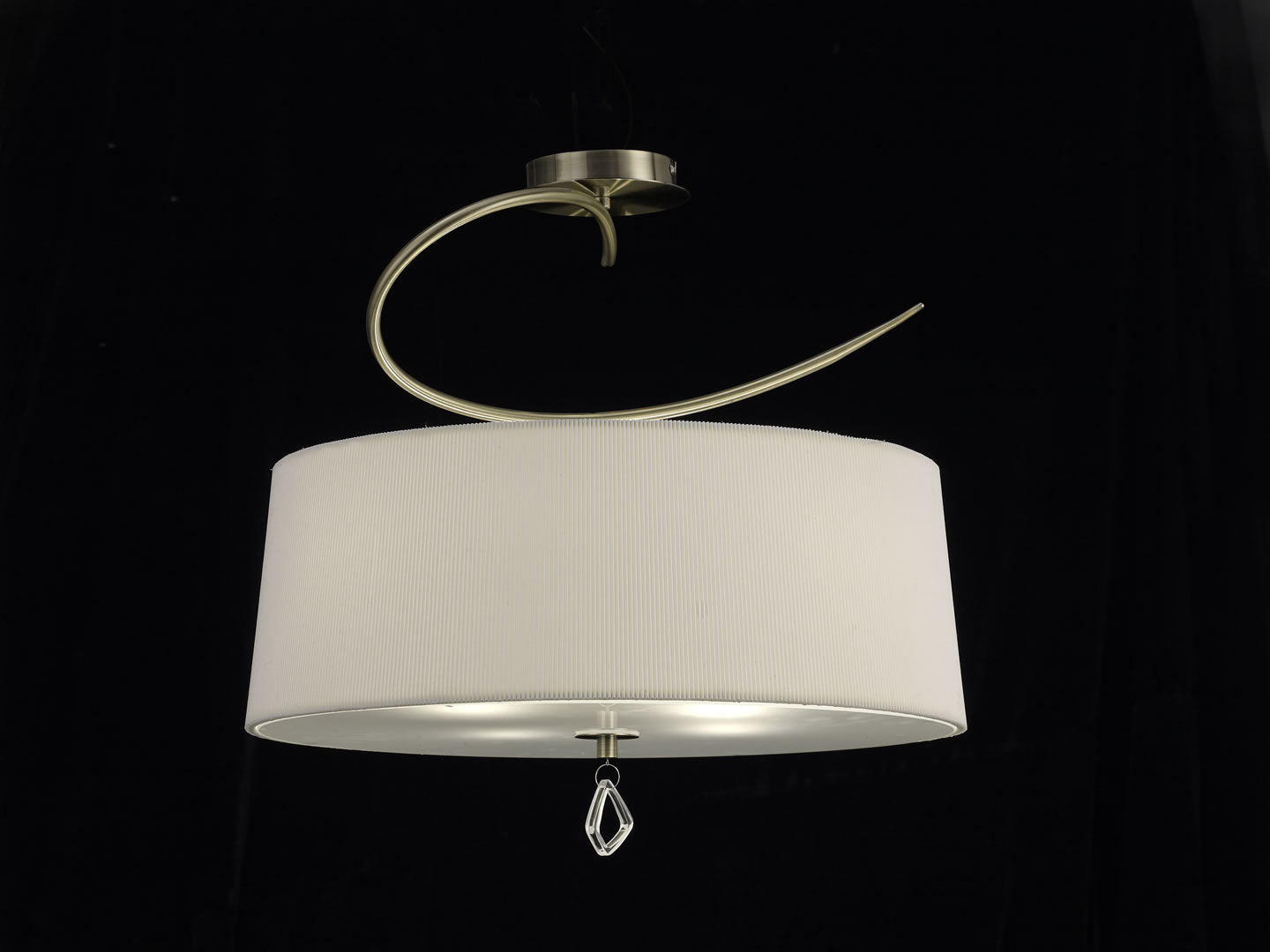 Mara Semiceiling lamp ø55cm 4xE27 20w leather/white