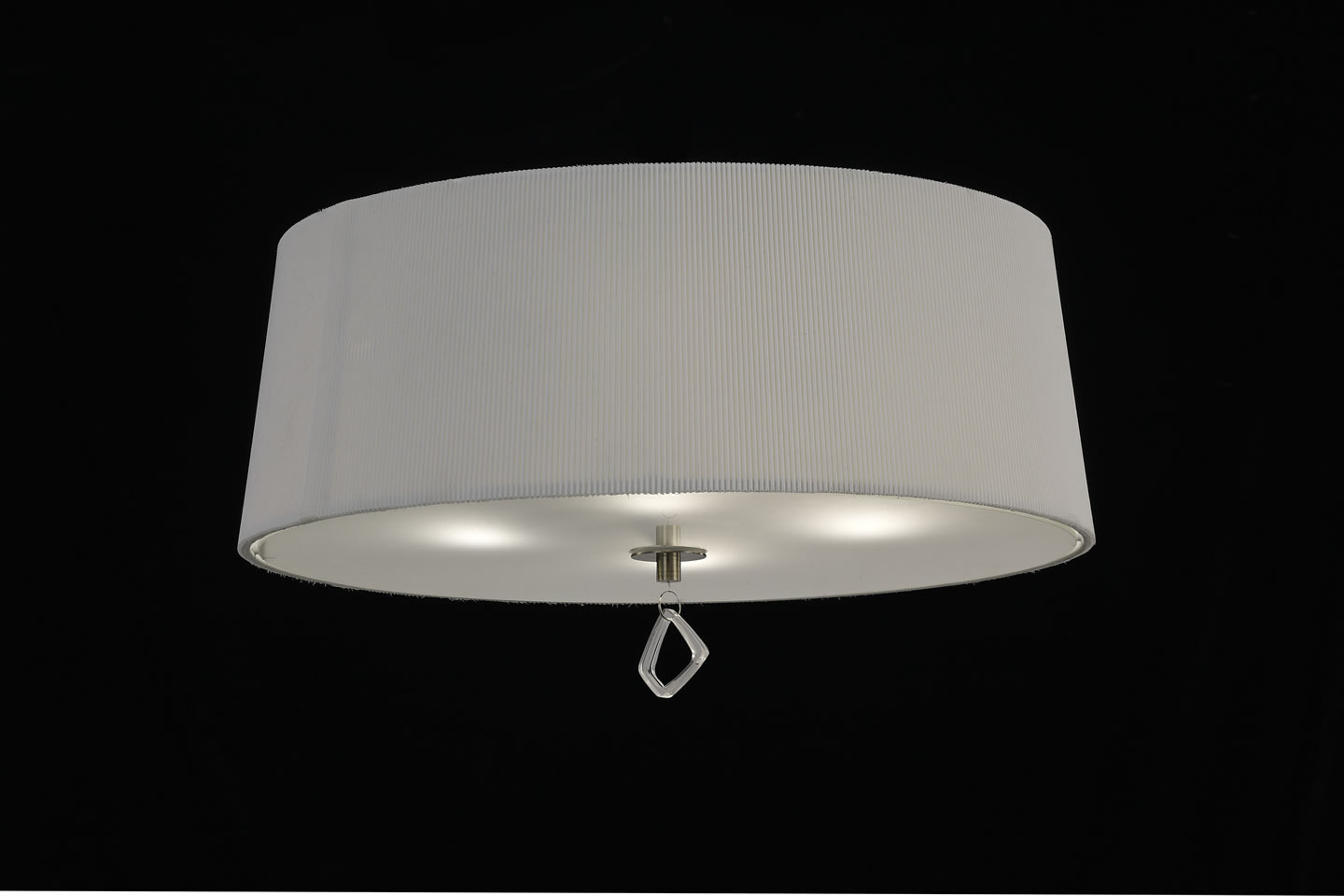 Mara ceiling lamp ø55cm 4xE27 20w leather/white