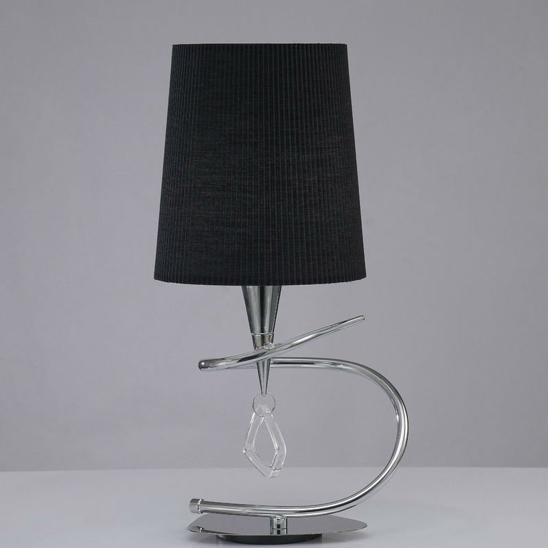 Mara Table Lamp 46cm E14 20w Chrome/Black