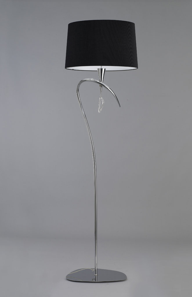 Mara lámpara of Floor Lamp 177,5cm 3xE27 20w Chrome/Black