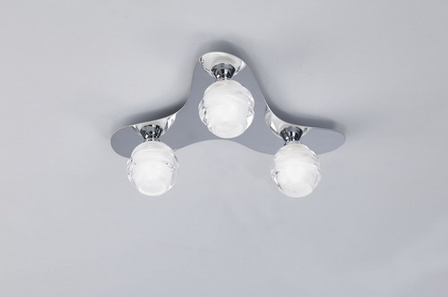 Loop ceiling lamp (Dali) 3 x max 33w G9 Eco (OSRAM) Chrome