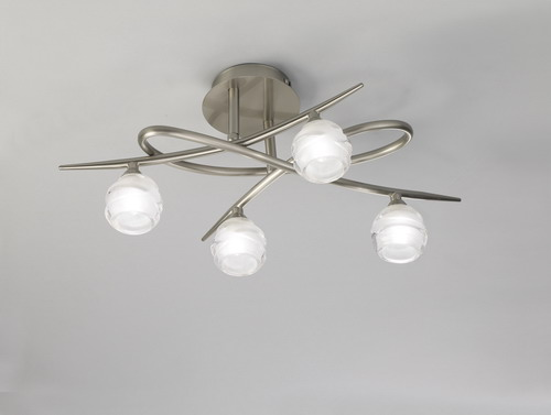 Loop ceiling lamp 4L 4 x max 33w G9 Eco (OSRAM) Nickel Satin