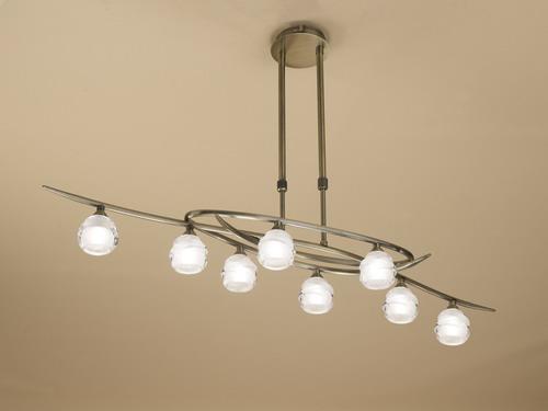 Loop Pendant Lamp 8L 8 x max 33w G9 Eco (OSRAM) CUERO