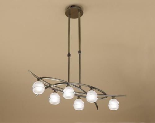 Loop Pendant Lamp 6L 6 x max 33w G9 Eco (OSRAM) CUERO