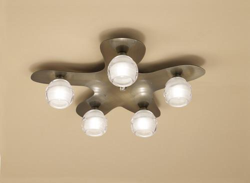 Loop ceiling lamp 5L (DALI) 5 x max 33w G9 Eco (OSRAM) CUERO