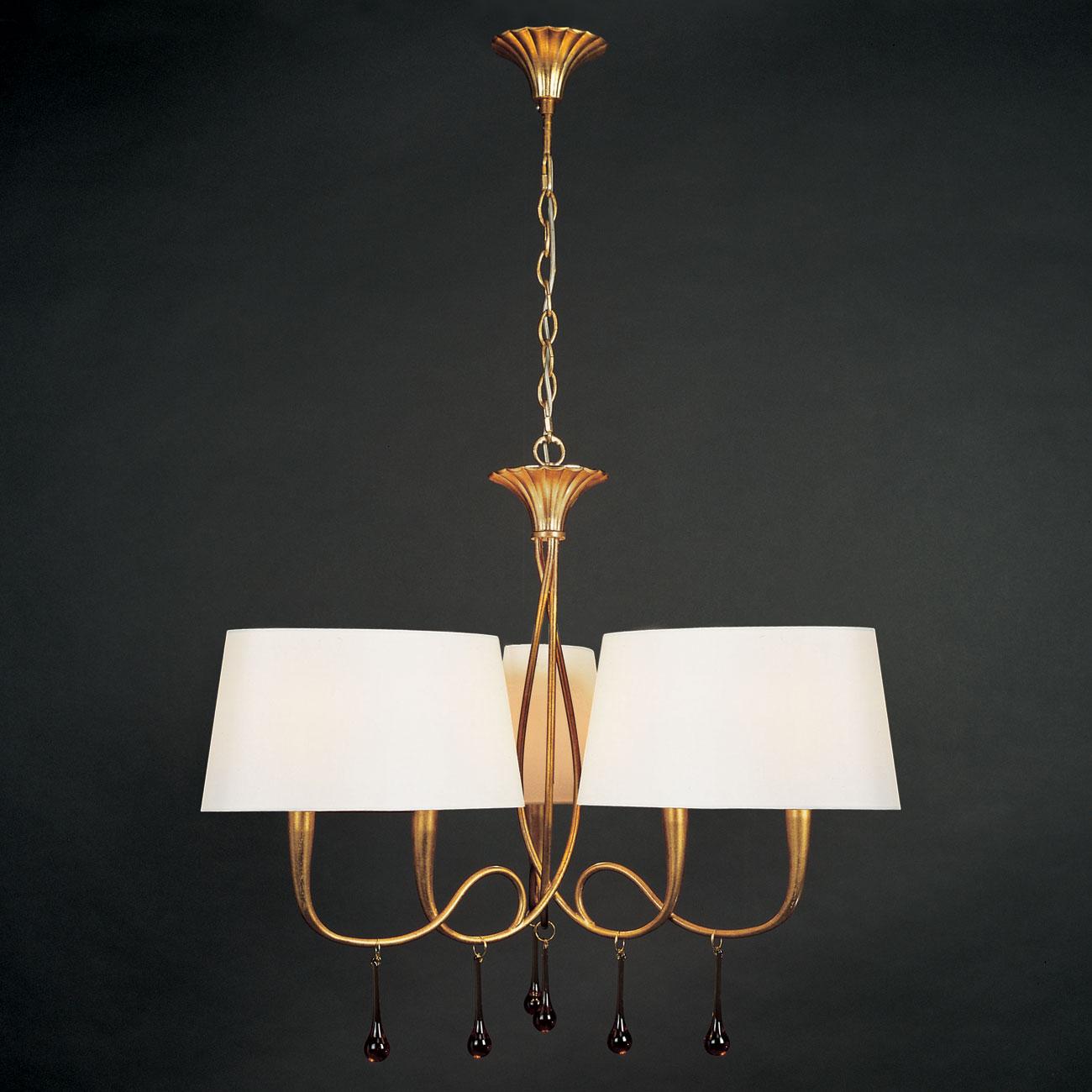 Paola Pendant Lamp 3 arms 6xE14 40w Gold