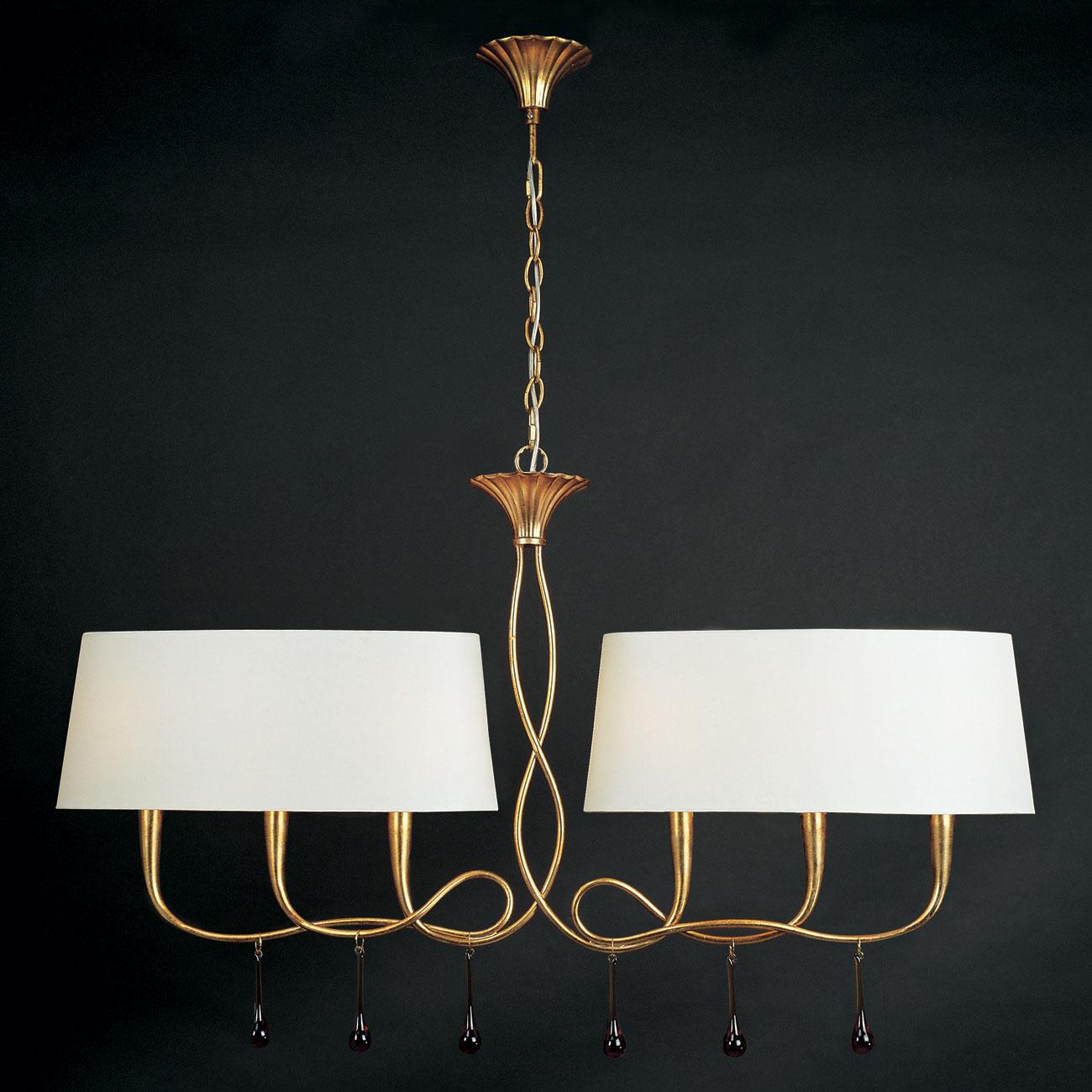 Paola Pendant Lamp 2 arms 6xE14 40w Gold