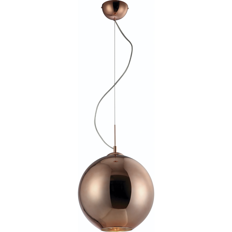 Mantra Glass 461a Pendant Lamp 1L Bola Bronze Medium 1x60w E27 Bronze Glass