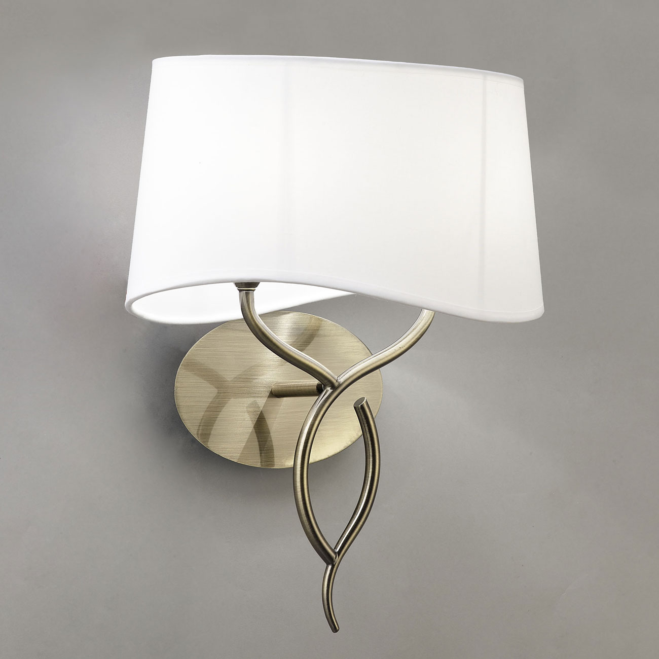 Ninette Wall Lamp 2xE14 20w leather white lampshade