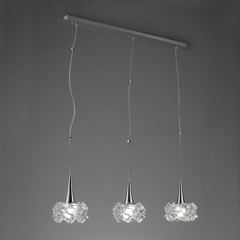 Artic Lamp linear 3L 3xE27 23w Chrome