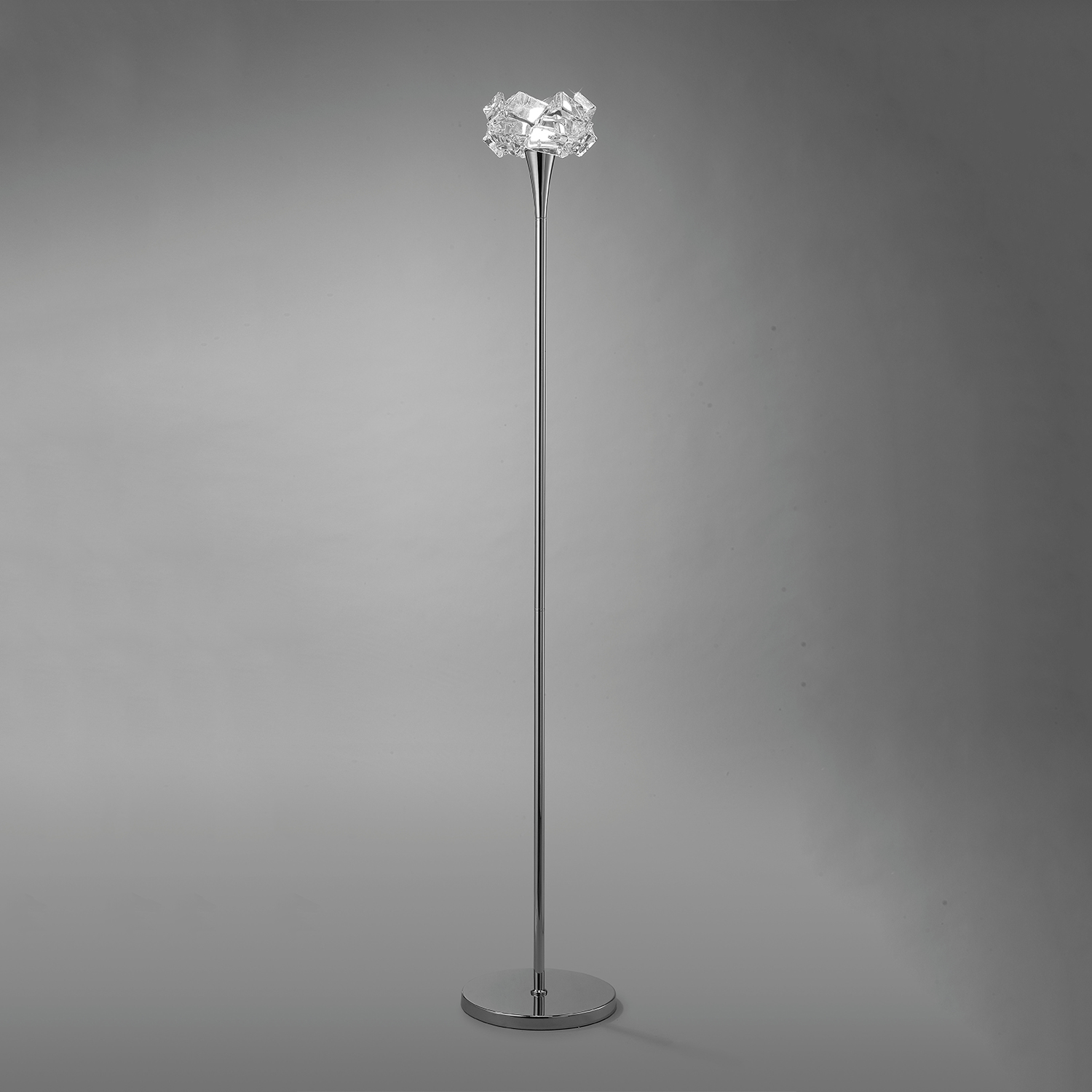 Artic Floor Lamp Salon 1L 1xE27 23w Chrome
