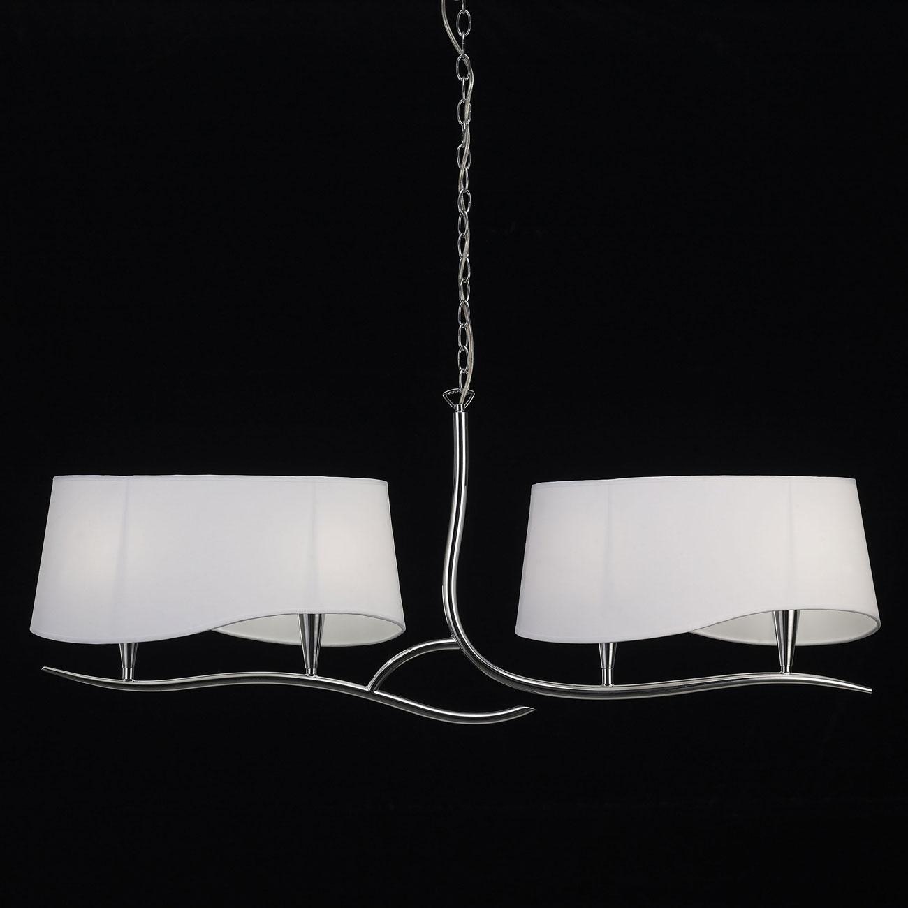 Ninette Lámpara Lineal 4L 4 x 20w E14 Cromo pantalla blanca
