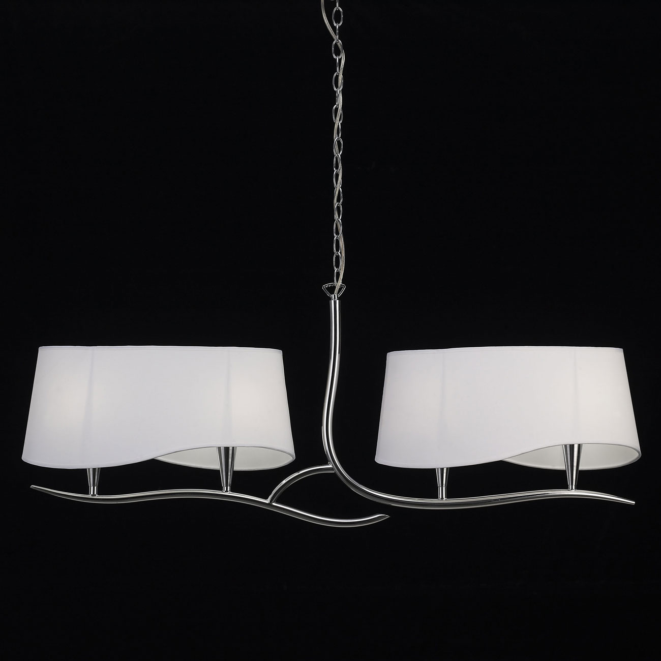 Ninette Lamp linear 4L 4 x 20w E14 Chrome white lampshade