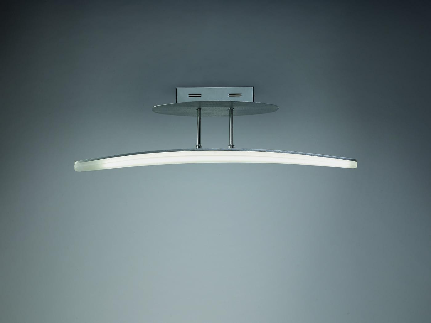 Hemisferic Semiceiling lamp 1L LED 20w Aluminium
