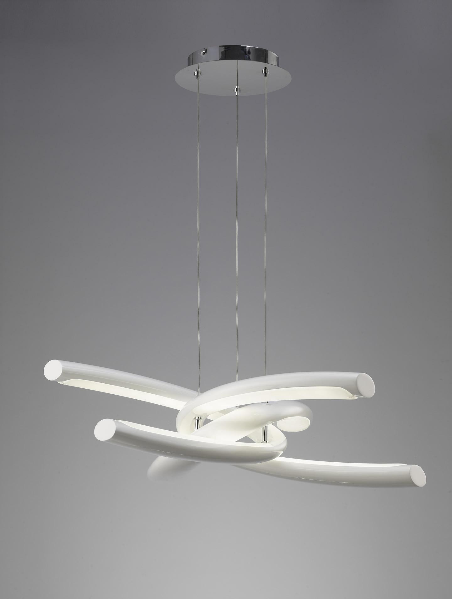 Knot Lamp 6L LED 48w Chrome + white
