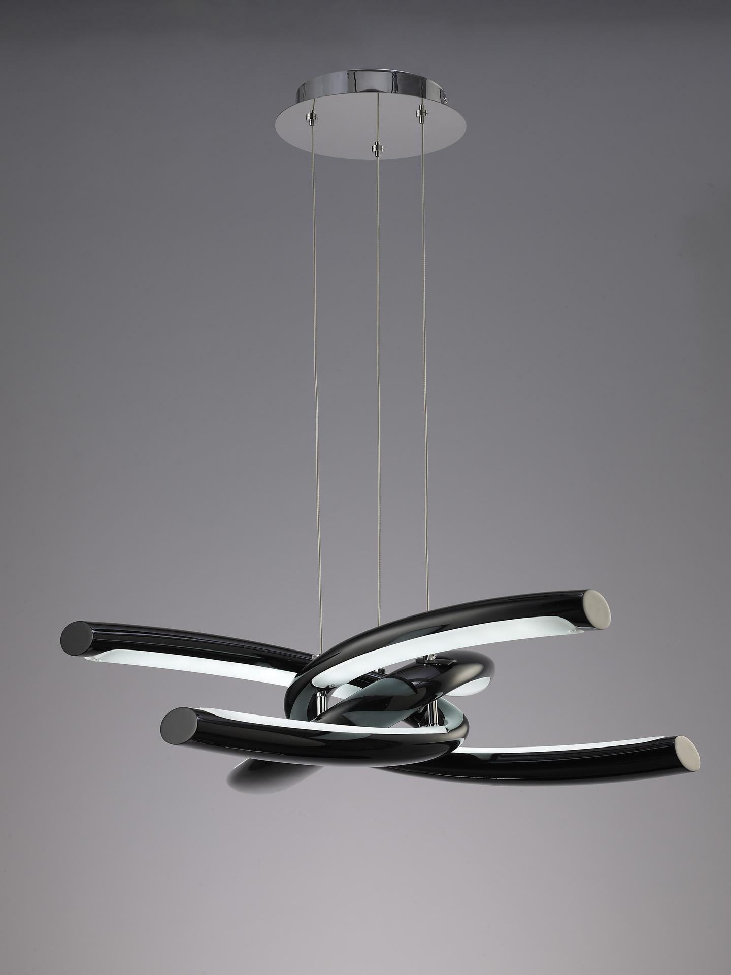Knot Lamp 6L LED 48w Chrome + Black