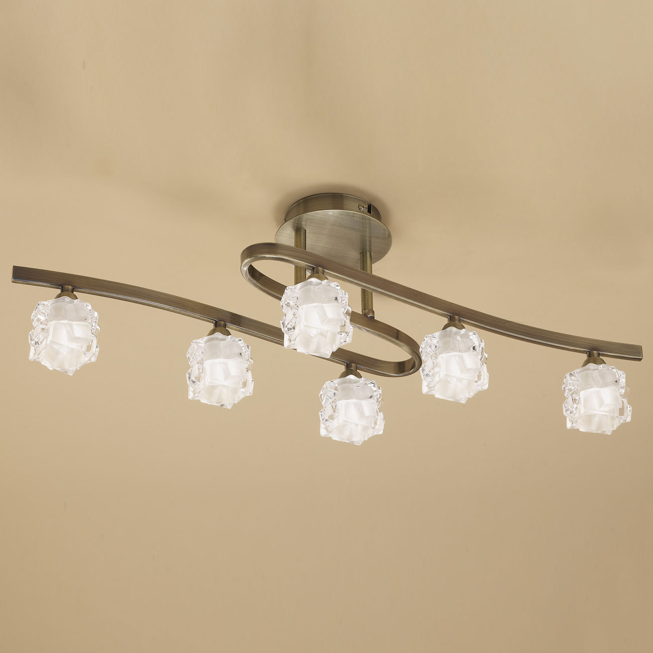 Ice ceiling lamp 6xG9 33w leather