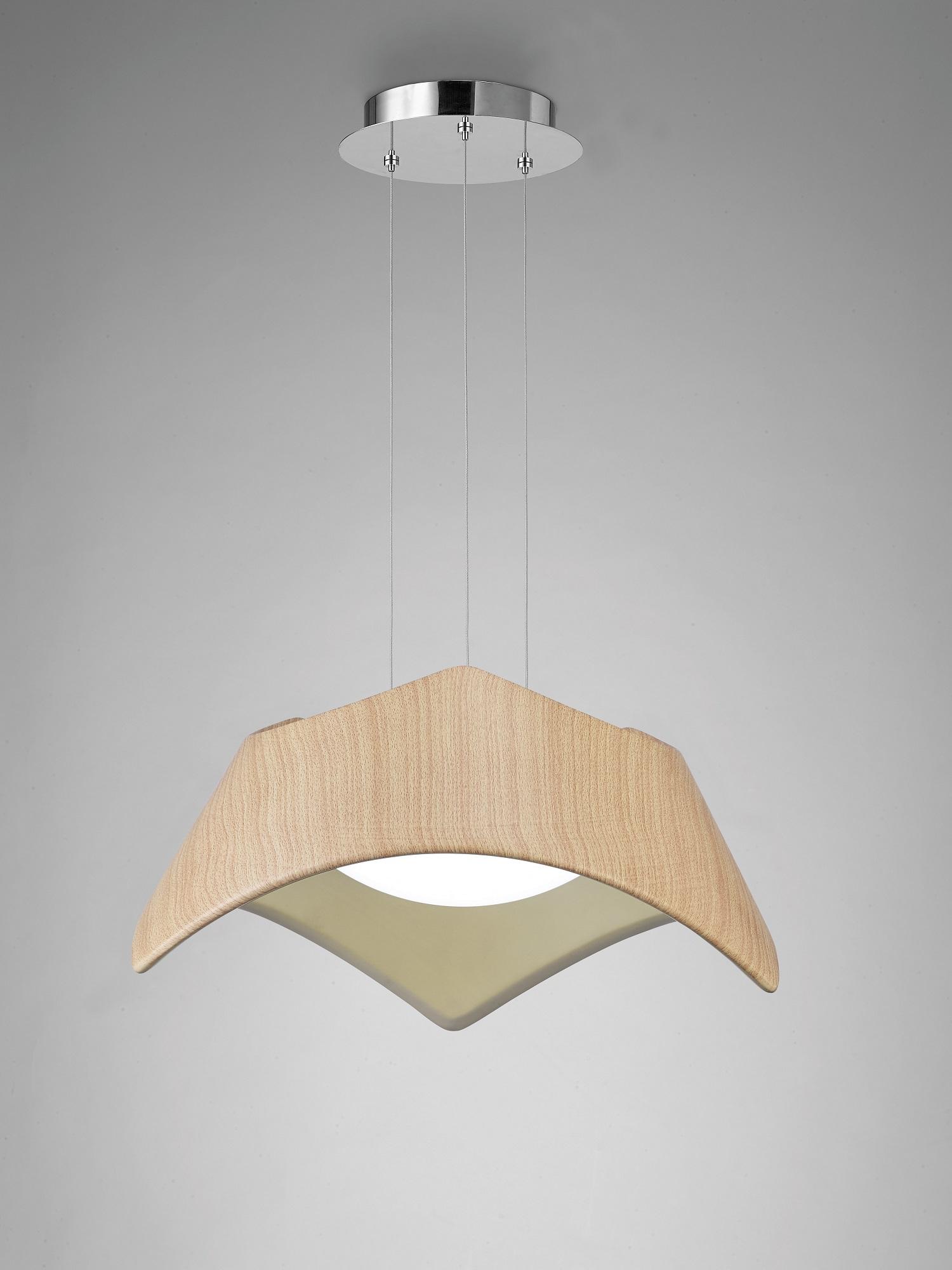 Maui Pendant Lamp Wood 2L