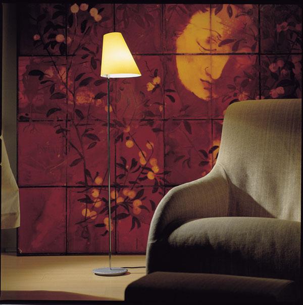 Lector P lámpara of Floor Lamp Chrome Cream