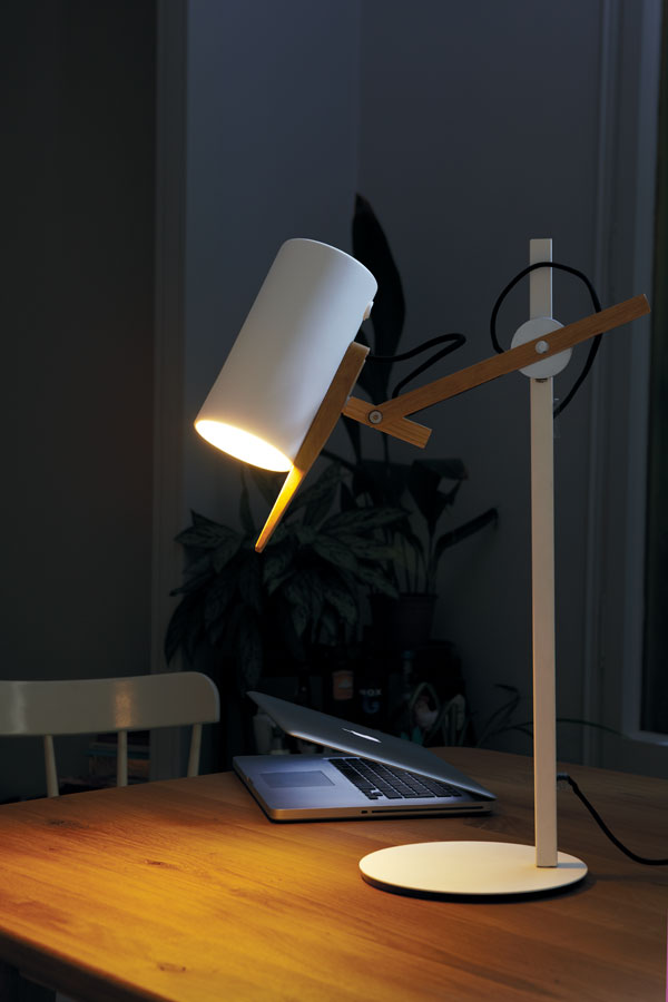 Scantling Table Lamp stone grey