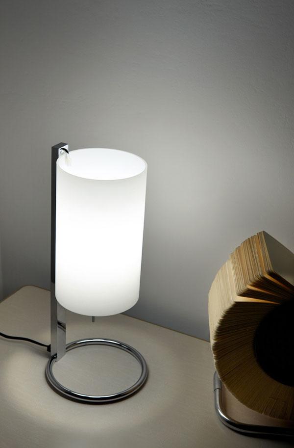 Silo Table Lamp Chrome white