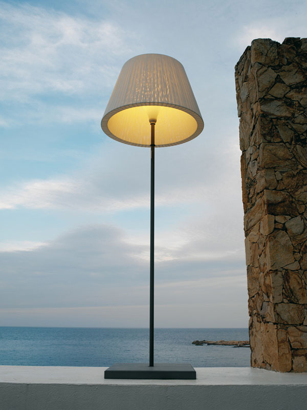 TXL lámpara de Pie Grande Textilene Marrón