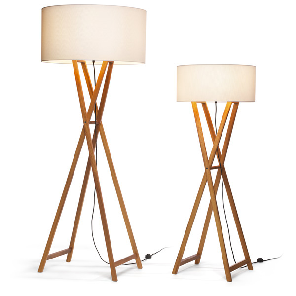 Cala P165 lámpara of Floor Lamp E27 3x18w oak white