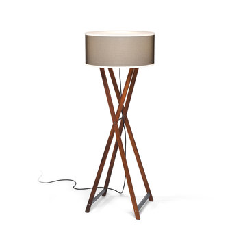 Cala S IP65 Table lamp E27 2x18w Brown Iroko wood