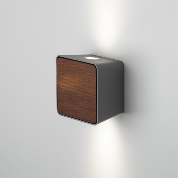 Lab Accessory Cover for wall lamp Dark Iroko wood