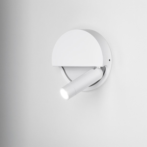 Ledtube R Left circular wall lamp foldable 3 w LED White