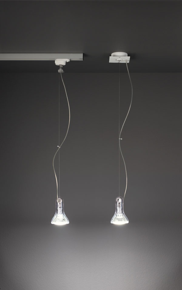 Altas Mini Pendant lamp GU10 1x50w Transparent