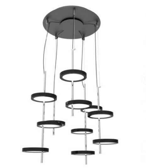 Nenufar Pre Set 5A Lámpara Colgante LED 135W 24V 2700K 10500lm negro