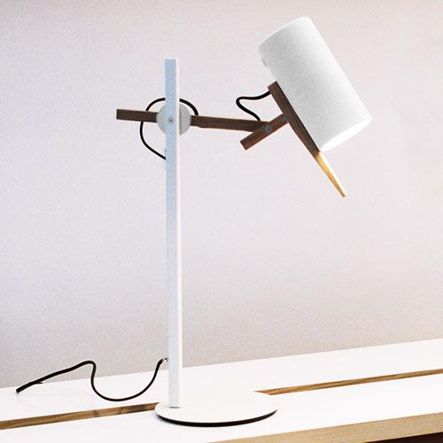 Scantling Lampe de table E27 PAR20 50W blanc