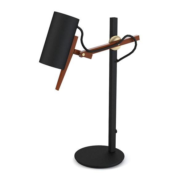 Scantling Lampe de table E27 PAR20 50W Noir