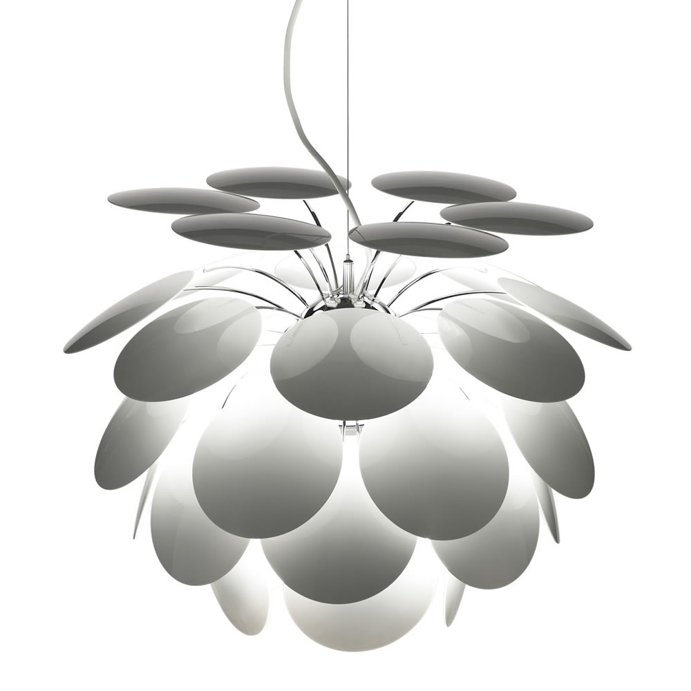 Discocó 68 Pendant lamp ø68 5m suspension wire White