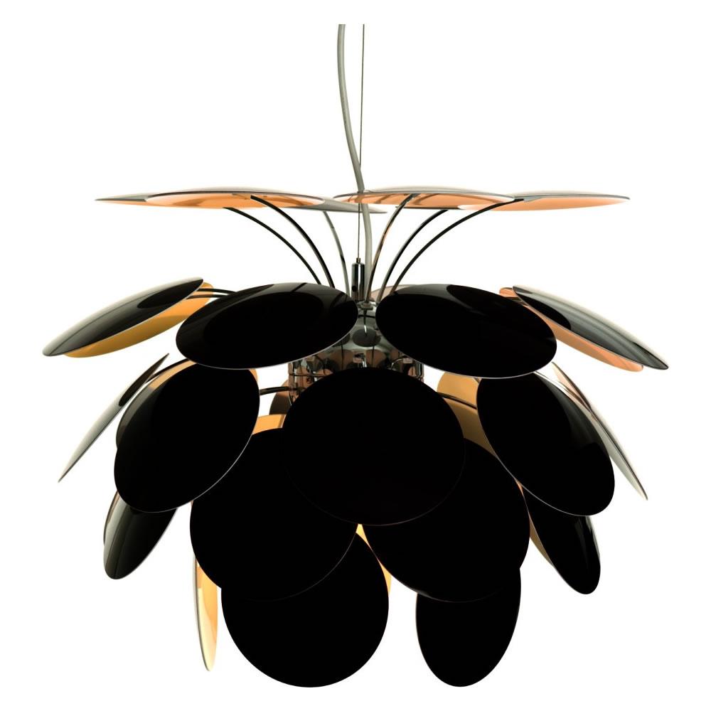 Discocó 53 Pendant lamp ø53 Black-Gold