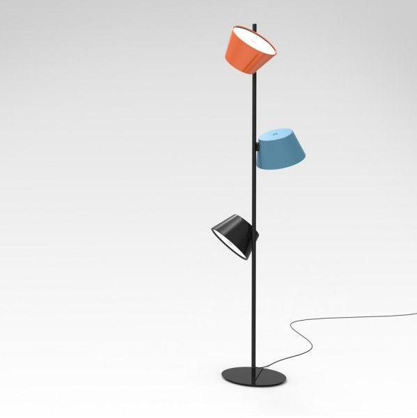 Tam Tam Floor Lamp 3 lights Structure Black
