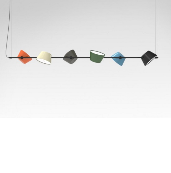 Tam Tam (Structure) Lamp Pendant Lamp 6 lights black structure