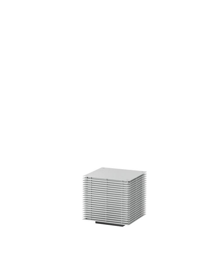 Dojo Pe Sobremuro Exterior 25x25cm E27 20W Anodizado plata