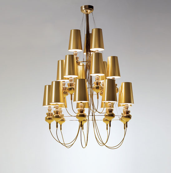 Josephine queen 9.6.3 (Structure) Pendant Lamp porcelain Gold