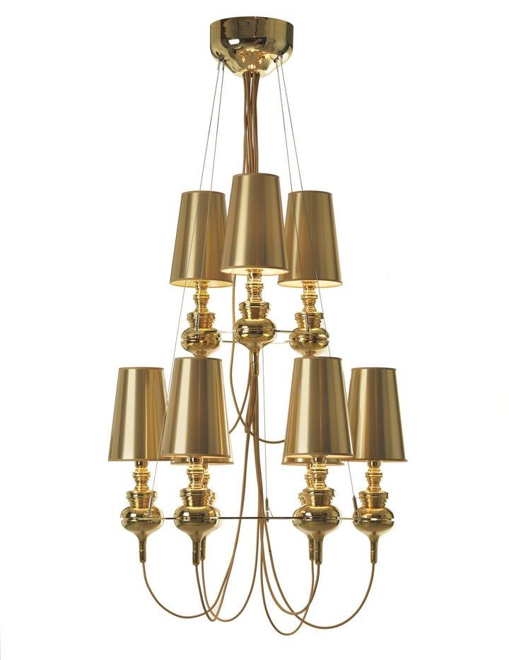 Josephine mini queen 9 (Structure) Pendant Lamp Gold
